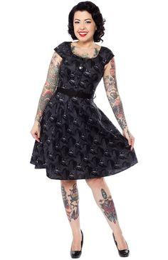 FOLTER BAD LUCK DRESS - Sourpuss Clothing