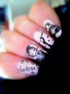 Extremely beautiful: Audrey Hepburn nails!! #nails #nailart