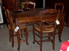 Antique French Parquet Top Draw Leaf Table- for sale at Columbia House Interiors, Columbia City, Indiana