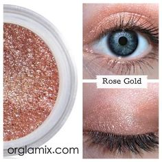 Rose Gold Eyeshadow - The perfect makeup shade for everyday wear.