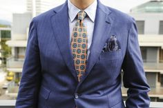 http://chicerman.com  dirnelli:  dansar04:  Diplomatic Ties part 296: Shibumi.  Love the colours of this tie but it needs to be combined with solids unless you want to go full sprezza. Blue herringbone jacket from Boggi (thanks to http://ift.tt/1hdaofN) Armani shirt a habutai silk ps from Berg & Berg and old chinos from Oscar Jacobson.  Also check out our new revamped website. Still under construction but up and running: http://ift.tt/22X0qX9  My Boggi blazer put to good use in Geneva…