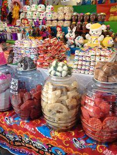 Dulces mexicanos en el mercado de San Miguel de Allende