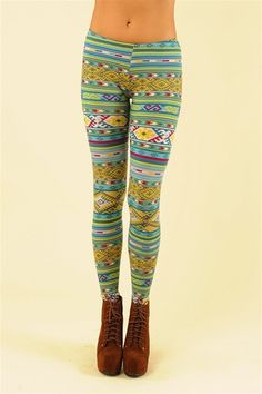 Aztec Legging - Teal--- want these leggings!