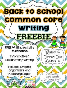 This Back to School Common Core Writing FREEBIE is a fun and engaging writing activity that is perfect for the first few days of school! This is ONE sample writing activity similar to the writing activities found in my Common Core Writing Units. Second Grade Writing, 2nd Grade Ela, 2nd Grade Classroom, Classroom Fun, Third Grade, Grade 2, 1st Day Of School, Beginning Of The School Year, Back To School