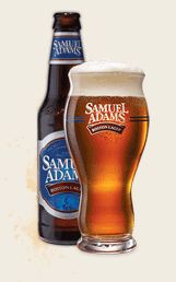 Sam Adams Boston Lager or most Sam Adams Types. We have the glasses as well and it really does improve the flavor of the beer!!