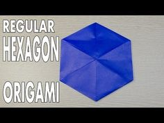 Origami Basic - How to make Regular Hexagon from a square paper , Origami 101, Origami Quilt, Origami And Kirigami, Modular Origami, Origami Stars, Origami Paper, Origami Techniques, Paper Stars, Colors