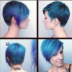 Blue pixie thinking about this for my next hair look