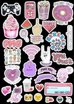 Snapchat Stickers, Phone Stickers, Diy Stickers, Printable Stickers, Planner Stickers, Doodles, Tumblr Stickers, Aesthetic Stickers, Diy Phone Case