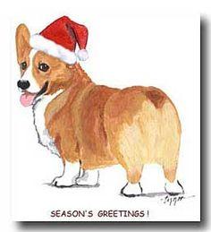 Pembroke Welsh Corgi christmas cards