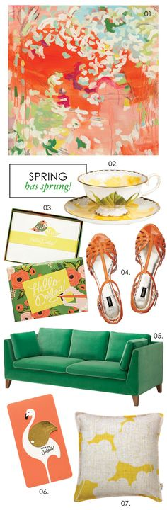 Adore Home magazine - Blog coral and emerald and yellow