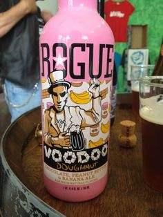 Rogue Voodoo Doughnut Chocolate Peanut Butter and Banana Ale Brewed by Rogue Ales Style: Fruit Beer Newport, Oregon USA