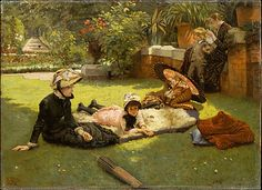James Tissot (French, 1836–1902). En plein soleil, ca.1881. The Metropolitan Museum of Art, New York. Gift of Mrs. Charles Wrightsman, 2006 (2006.278) #kids #metkids