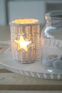 Candle Light White Christmas, Christmas Time, Romantic Candles, Candle Lanterns, Light Decorations, Candle Holders, Glow, Ideas, Star Candle