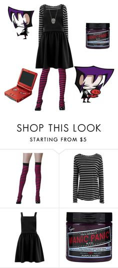 """""""Dib's Scary Sister"""" by rebellious-ingenue ❤ liked on Polyvore featuring Zadig & Voltaire, Nintendo, Manic Panic NYC and Bloomingdale's"""