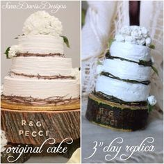 Custom Wedding Cake Replica Ornament Miniature By Saradavisdesigns