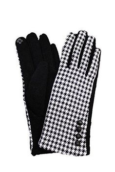 "Keep your hands warm but still be able to use your smartphone with these stylish checkered winter gloves! Gloves measures approximately 9"""" x 3.5"""" and one size fits most. Lined with fleece."