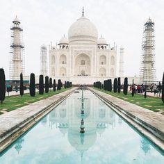 Breathtaking #TajMahal through the genius lens of @grantlegan. #inspiration #regram by hartmannluggage instagramers I like