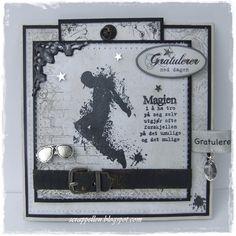 Konferkarte mit Stempel von Kort and Godt Teenager, Card Making, Paper Crafts, Scrapbooking, Frame, Cards, How To Make, Vintage, Stamping