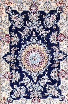 'Part-Silk' Nain (6 LA),, 'Part-Silk' Nain (6 LA), Persia, circa 20 years old, wool/part-silk/cotton, approx. 142 x 95 cm