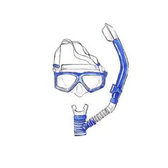 Valuable objects - Speedo dive mask & snorkel @speedo #speedo #swimstories #myspeedo #diving #snorkel #swim #holiday #vacation #summer #estate #estate2014 #mare #sole #spiaggia #minimal #summeressentials  #illustration #watercolour #art #valuableobjects