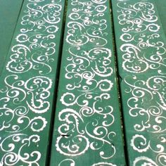Paisley picnic table...definitely doing something like this when michael builds me a table...