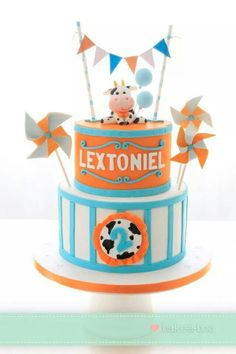Cow & Carnival themed cake