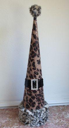 Decorative Paper Mache Christmas Tree by EnchantedRoseStudio