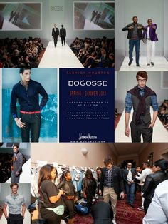 Fashion for the guys by Bogosse showing at Fashion Houston