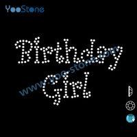 Dazzle Birthday Girl Iron On Rhinestone Transfer Designs 319529cac8b3