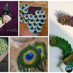 10 Crochet Peacock Feather Projects Free Patterns Video