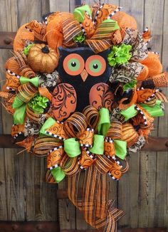 images of halloween mesh wreaths - Google Search