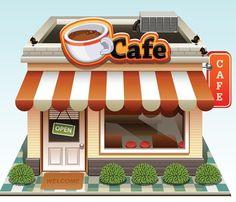 Cartoon Coffee Shop | cartoon, Coffee Shop