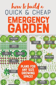 Cheap and Easy Emergency Vegetable Garden - Even the most robust stockpile runs out, but your ability to grow your own food never will. Here's how to plant a quick emergency vegetable garden, cheap. Vegetable Garden Planning, Backyard Vegetable Gardens, Veg Garden, Vegetable Garden Design, Beginner Vegetable Garden, Garden Tomatoes, Garden Kids, Backyard Patio, Garden Art