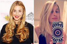 Whitney Port with long hair and after a haircut
