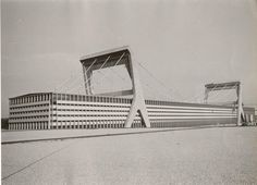 PIER LUIGI NERVI paper factory, Mantua, early 1960s, just ceased production