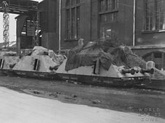 Great photo of several individual Schwere Armored Train Protection  Units.