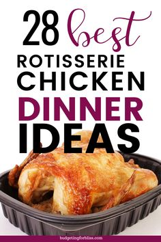 When you need a simple meal in a hurry, don't get takeout. Grab a rotisserie chicken and use these 28 Easy Shortcut Rotisserie Chicken Dinner Ideas instead. Quick Meals For Kids, Quick Easy Dinner, Quick Easy Meals, Recipes Using Rotisserie Chicken, Chicken Meals, Chicken Recipes, Leftovers Recipes, Turkey Recipes, Dinner Recipes