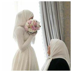 Bridal Hijab, Hijab Bride, Wedding Hijab, Bridal Outfits, Bridal Dresses, Bridesmaid Dresses, Muslimah Wedding Dress, Muslim Wedding Dresses, Muslim Brides
