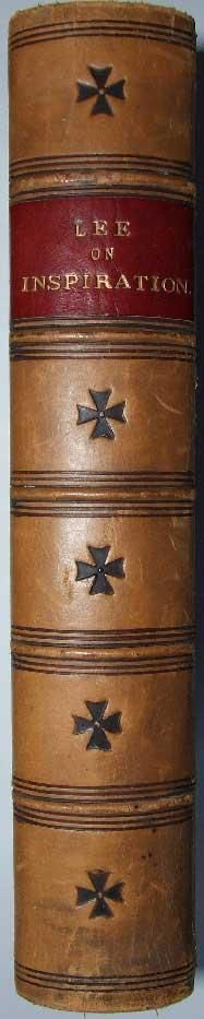 http://www.ebay.co.uk/itm/The-Inspiration-of-Holy-Scripture-Nature-Proof-Lee-1865-Dublin-Fine-binding-/400999466391