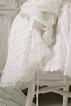 Vintage white petticoats
