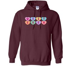 Candy Hearts Whatever Funny Anti-Valentine's Day T-Shirt