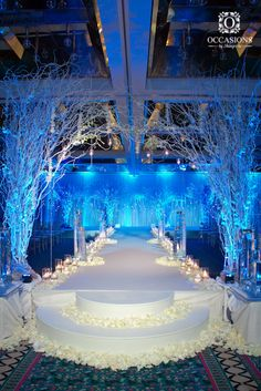 27 Ideas For Wedding Winter Wonderland Theme Wedding Stage, Tree Wedding, Wedding Themes, Wedding Decorations, Wedding Blue, Wedding Ideas, Branches Wedding, Wedding Window, Decor Wedding