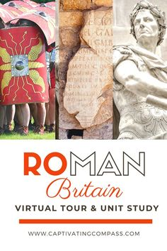 Easily add Roman Britain studies to your middle  high school homeschool learning with the Roman Britain Unit Study  Virtual Museum Tour! Get all the resources you need including a virtual museum tour and a digital unit study for kids aged 11 and up! All the deets are in this blog post.
