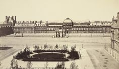 Louis-Auguste Bisson with Auguste Rosalie Bisson. Arc du Carrousel and the Palais des Tuillreies. c. 1855