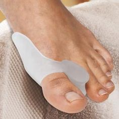 Wear your shoes comfortably all day with the support of the Gel Bunion Toe Spreader.  Need to get one for my mother-in-law.