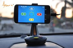 One button push. See the Video at http://www.trendhunter.com/trends/aura-smartphone-car-dock