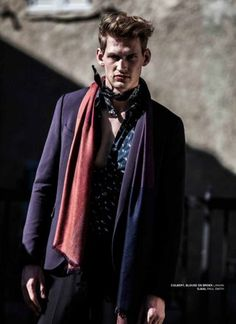 JFK magazine Netherlands showing the new winter collections of Lanvin, Trussardi, Zegna, Canali and others. Styled by Ellen Mirck.
