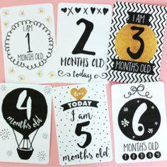 Colour scheme Printable Baby Milestone Cards