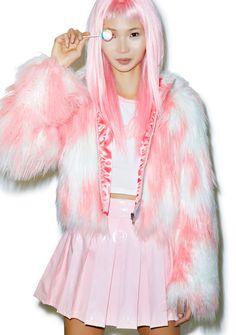 24HRS X DOLLS KILL FAUX FUR PHENOMENA COAT $130.00 http://www.dollskill.com/24hrs-x-dolls-kill-faux-fur-phenomena-coat.html