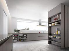 Lacquered wood veneer kitchen VELVET PROFILE I by GD Arredamenti